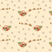 Santa's sleigh reindeer Merry Christmas!
