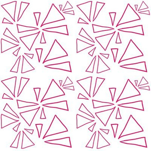 Pink Open Triangles