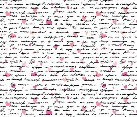 love text fabric by mcherevan on Spoonflower - custom fabric