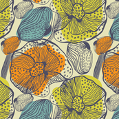 Abstract tropical flowers