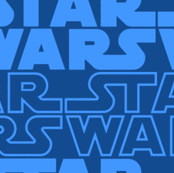 star wars logo (blue)