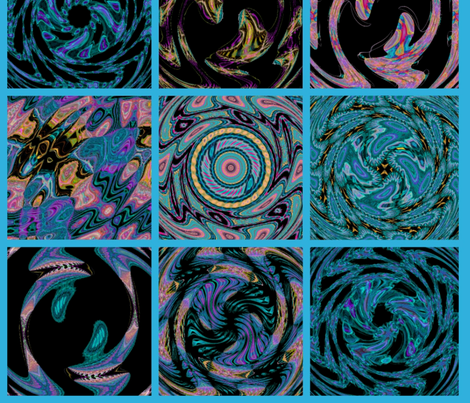 Colorful Cosmic Cheater Quilt fabric by charldia on Spoonflower - custom fabric