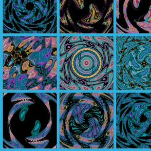 Colorful Cosmic Cheater Quilt