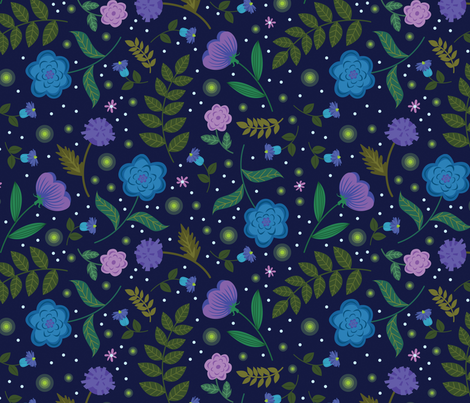 Firefly Floral fabric by alissecourter on Spoonflower - custom fabric