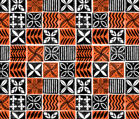Hawaiian Kapa 3b fabric by muhlenkott on Spoonflower - custom fabric