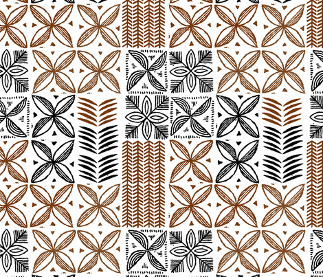 Hawaiian Kapa 2a fabric by muhlenkott on Spoonflower - custom fabric
