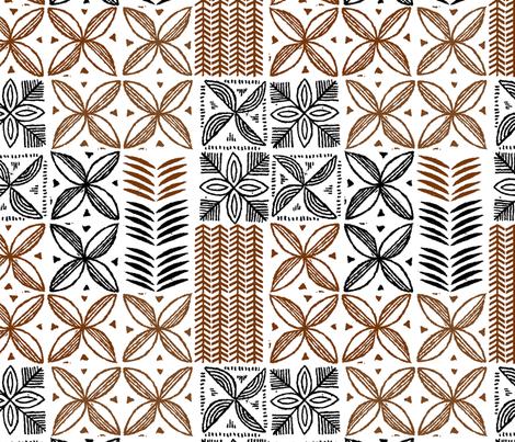 Hawaiian Kapa 2a fabric by muhlenkott on Spoonflower - custom fabric