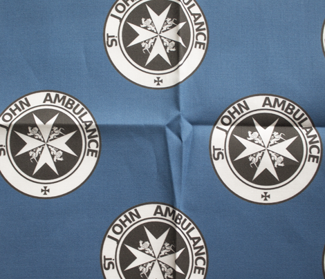"St John Ambulance logo - 2.5"" on blue"