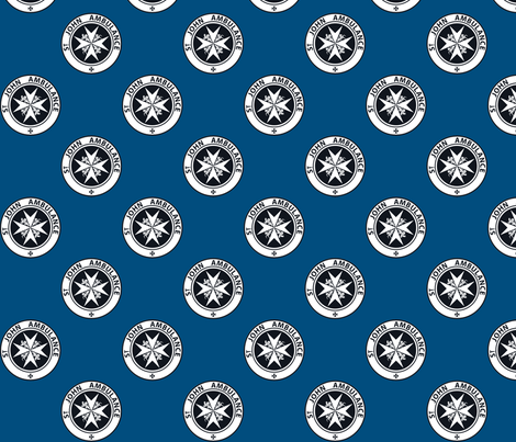 "St John Ambulance logo - 2.5"" on blue fabric by risarocksit on Spoonflower - custom fabric"