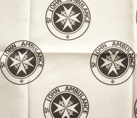 "St John Ambulance logo - 2.5"" on white"