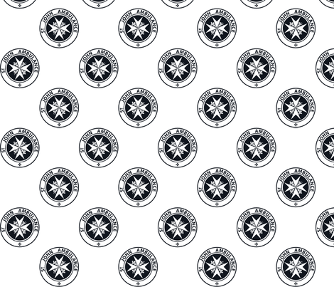 "St John Ambulance logo - 2.5"" on white fabric by risarocksit on Spoonflower - custom fabric"