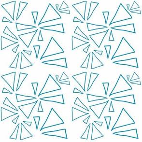 Blue Open Triangles