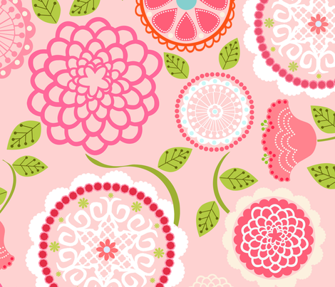 Mums for Mom in Pink fabric by natitys on Spoonflower - custom fabric