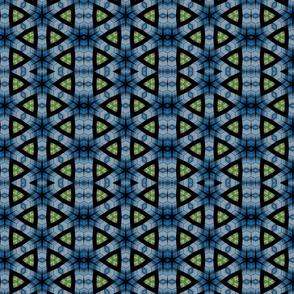 Blue Geo Print