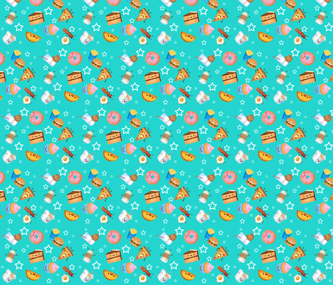 Food fabric by jessica_jeanette on Spoonflower - custom fabric