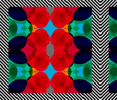 geometric nautical fabric by pencilmein on Spoonflower - custom fabric