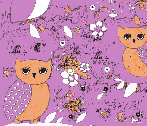 owls fabric by roxtex on Spoonflower - custom fabric
