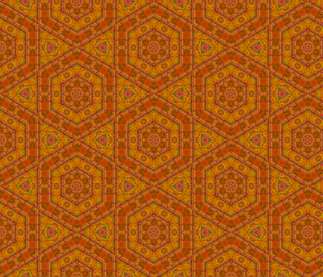Orange Textured Hexagon Tile © Gingezel™ 2014