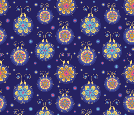 Abstract Fireflies fabric by oksancia on Spoonflower - custom fabric