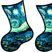 Christmas Stockings Van Gogh's Starry Night