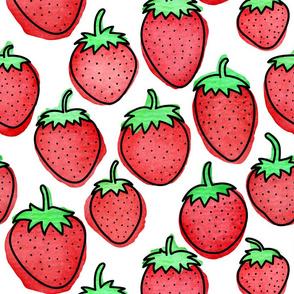 Strawberry Days - Large White