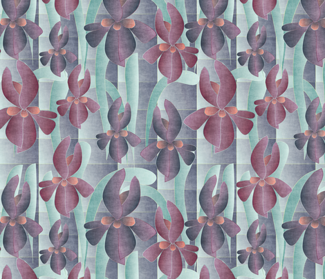 iris 5 fabric by kociara on Spoonflower - custom fabric