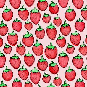 Strawberry Days - Medium Pink