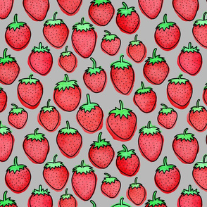 Strawberry Days - Medium Gray