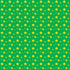Yellow stars on Green