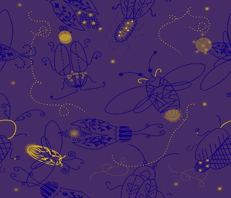 Vagalumes fabric by cibelle on Spoonflower - custom fabric