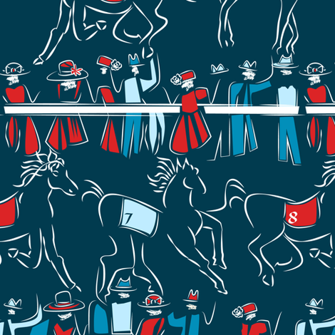 A Day at the Races Custom Color fabric by mag-o on Spoonflower - custom fabric