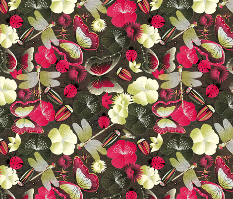 beetles and friends fabric by kociara on Spoonflower - custom fabric