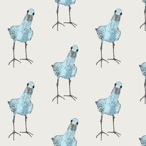 one blue bird