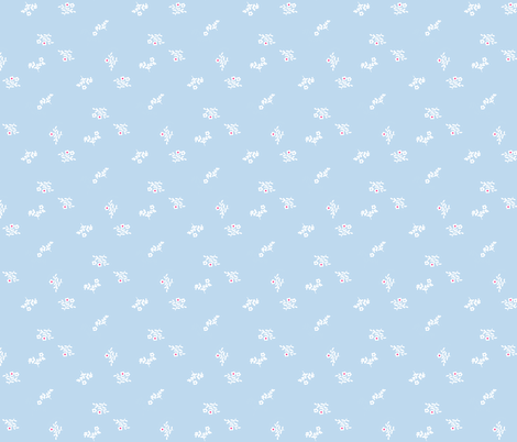 Dusty Blue fabric by graceful on Spoonflower - custom fabric