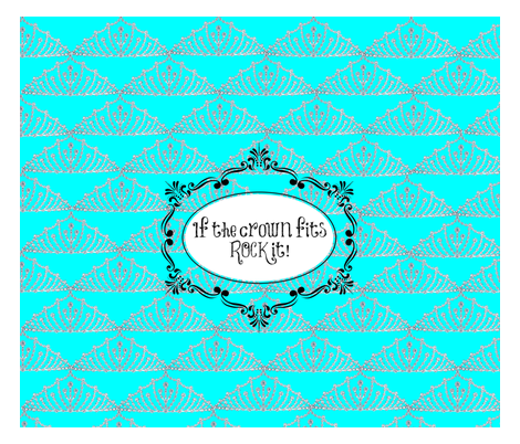 crowns fit fabric by lovesweet on Spoonflower - custom fabric