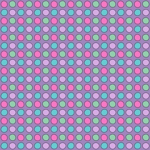 Drawn dots on purple