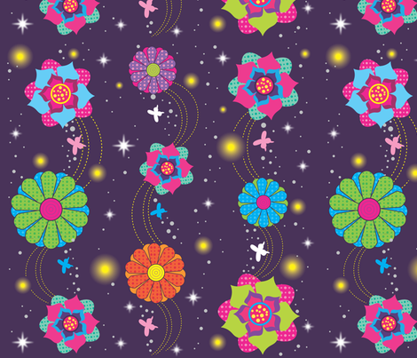 Summer night fabric by rachelee_design on Spoonflower - custom fabric