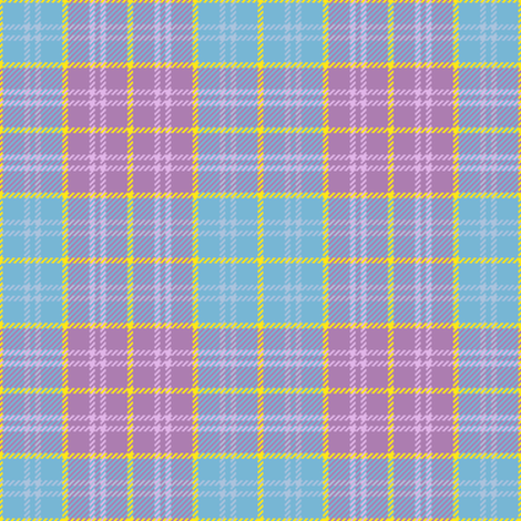 tartan - summer flowers fabric by sef on Spoonflower - custom fabric