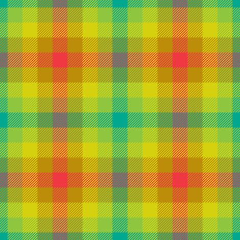 tartan - botanical contest fabric by sef on Spoonflower - custom fabric