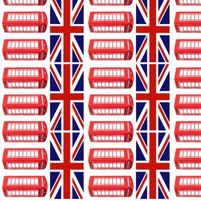 British Flag Red Phone Booth