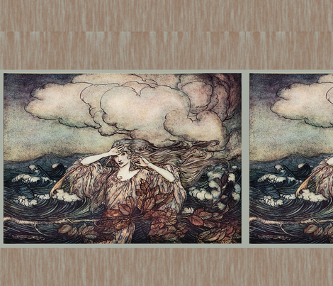 Arthur rackham 002 fabric by craftyscientists on Spoonflower - custom fabric