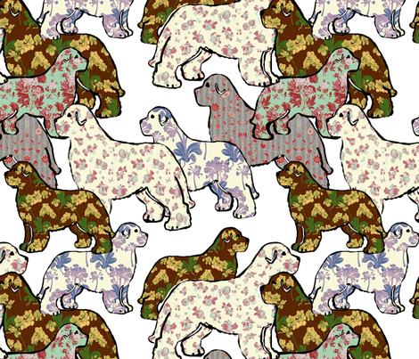 Newfoundland Dog Whimsy fabric by dogdaze_ on Spoonflower - custom fabric