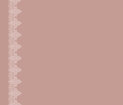 Blush Lace Border fabric by melinda_wolf_designs on Spoonflower - custom fabric