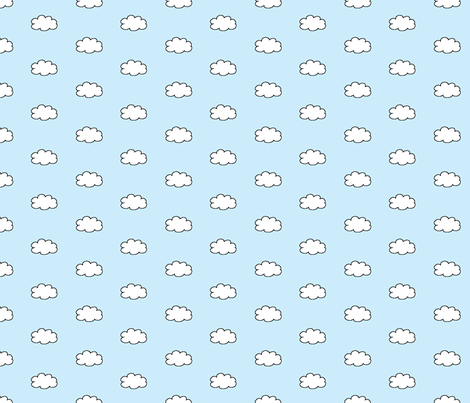 Cloudy Day in Light Blue fabric by gwennypenny on Spoonflower - custom fabric