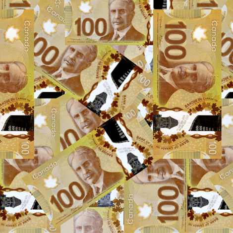 Canadian Paper Money fabric by whimzwhirled on Spoonflower - custom fabric