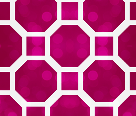 Octagons and squares haute pink-ed fabric by ninaribena on Spoonflower - custom fabric