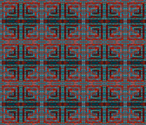 Log cabin, double mirror rotate fabric by su_g on Spoonflower - custom fabric