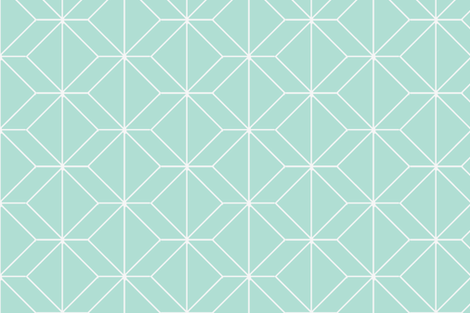 geometry mint fabric by ninaribena on Spoonflower - custom fabric