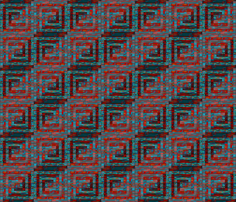 Diagonal log cabin fabric by su_g on Spoonflower - custom fabric