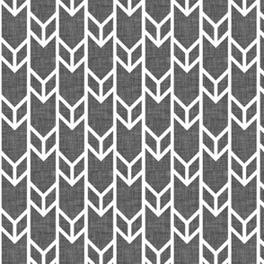double chevron charcoal linen